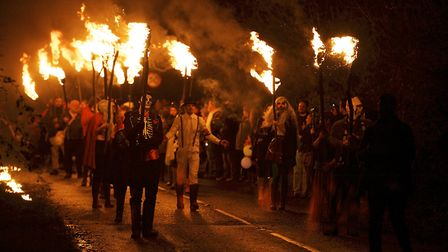 Corpusty and Saxthopre bonfire night procession is one of the more unusual in Norfolk. Photo: Mark