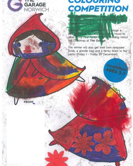 The Garage is running a competition for children to design Little Red Riding Hood's cloak for the No