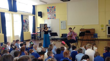 Pupils at Clenchwarton Primary School enjoy a classical concert. Picture: Archant