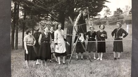 Guiders training camp in 1950. Photo: Norfolk Girlguides.
