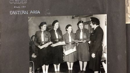 Norwich Queens Guides in 1951. Photo: Girlguiding Norfolk.
