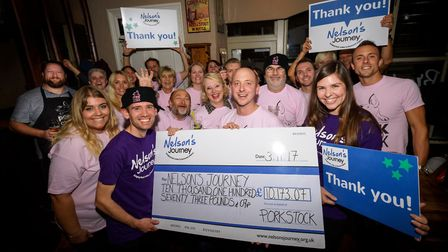 A cheque of more than £10,000 was handed to charity Nelson's Journey following Porkstock 2017. Pictu