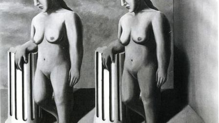 The only known photograph of La Pose Enchant�e, 1927, by Ren� Magritte. Image: From the Catalogue R