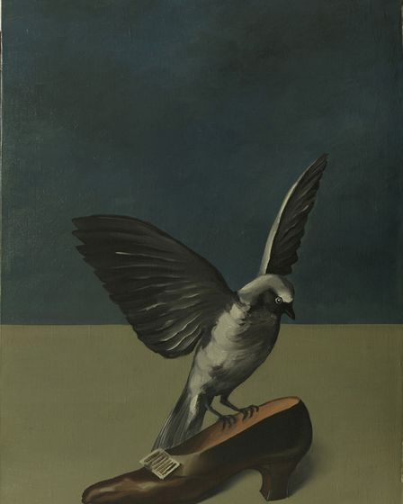 """René Magritte, """"God is not a Saint"""", 1935-36, oil on canvas, 67,2 x 43 cm, RMFAB, Brussels inv. 1168"""