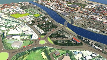 Yarmouth third crossing. Photo: Courtesy of Norfolk County Council