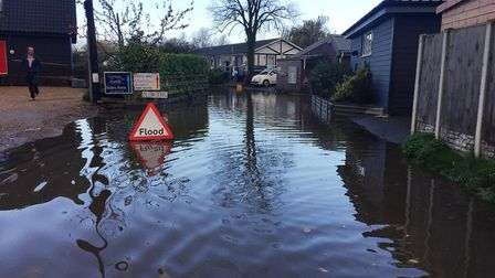 Business and residents are concerned about flooding along Ferry Road in Horning. Picture: CLAYTON WI