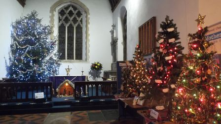 Stalham's Christmas tree festival is now more popular than ever. Pictures: Emma Lawrence