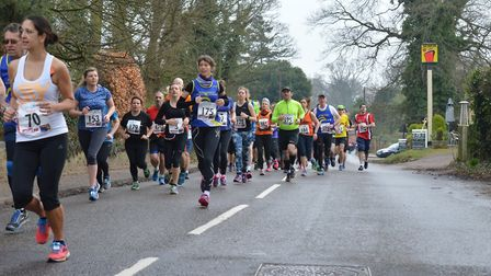Runners in this year's Broadland Half Marathon - next year's is already full. Picture: Norwich Road