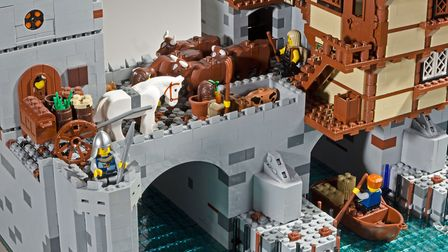 An example of the Lego creations that form the Brick Wonders exhibition, coming to the Forum in Norw