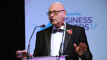 EDP Business Awards 2017. Archant Chief Executive Jeff Henry. Photo by Simon Finlay Photography.