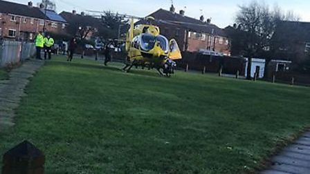 The air ambulance in Gorleston. Picture: Ian Wright