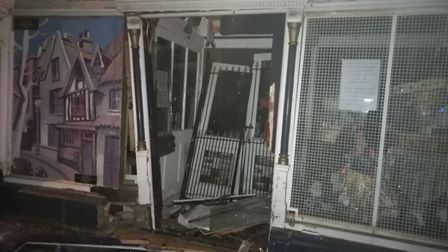 The David Howkins Museum of Memories was badly damaged when a car crashed into it on Saturday night.