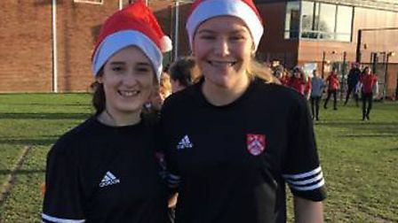 A successful fundraising Santa Run was held at Ormiston Denes Academy in Lowestoft. Pictures: Courte