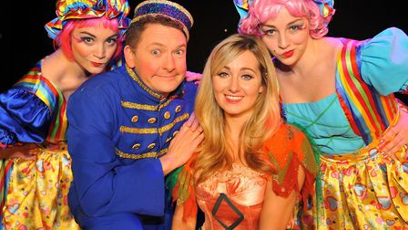Cinderella: Andy Eastwood (Buttons), with Helen Farrell as Cinderella, plus Ugly Sisters Elise and S