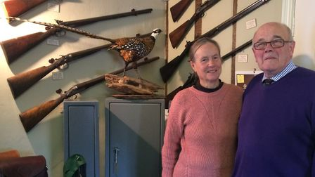 Wendy Trott and Richard Gallyon, who have produced a new book chronicling the gun maker's family. Pi