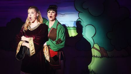 Princess Jill (Jessica Croll) and Jack (Rebecca Lisewski) in Jack and the Beanstalk at the Alive Cor