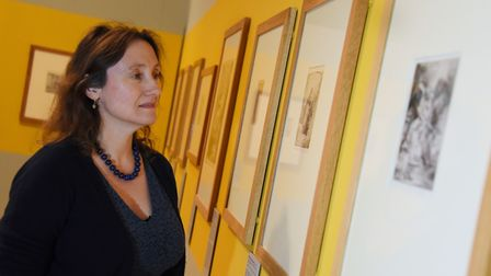 Francesca Vanke, joint curator of Norwich Castle's Rembrandt: Lightening the Darkness exhibition, lo