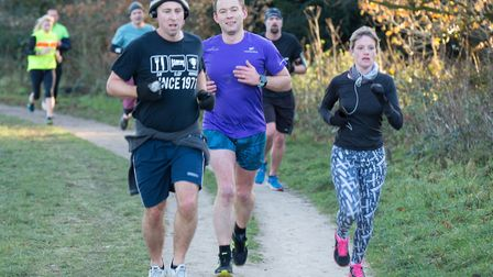 Catton parkrun on Saturday 16th December 2017. Photo: Paul Coulthread