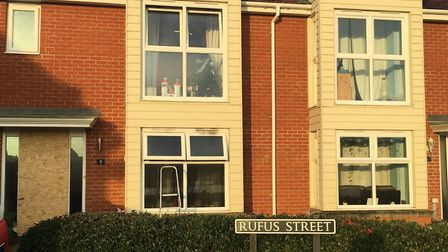 The property on Rufus Street on Queen's Hills, New Costessey, where a fire broke out late at night o