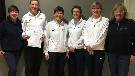 Norfolk's women's over-50s team have won the national inter-county title for a third successive year