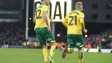 Alex Pritchard (right) and Marley Watkins both delivered on their respective returns for Norwich Cit