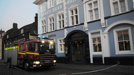 A fire appliance at the Duke's Head in King's Lynn. Picture: Chris Bishop