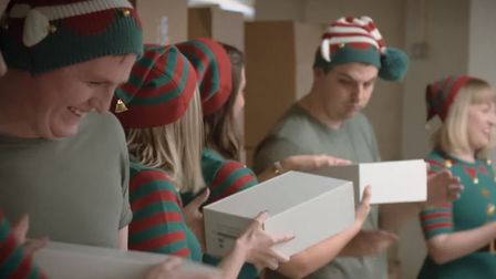 Scenes from enterprise agency Nwes's Christmas advert The Elves and the Shoemaker. Picture: Nwes