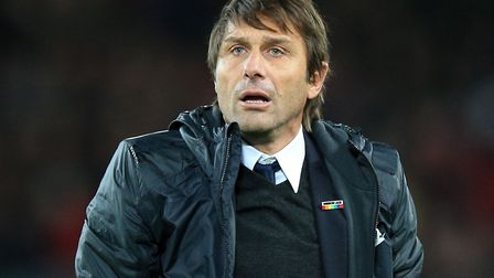 Antonio Conte will bring his Chelsea side to Carrow Road on Saturday, January 6. Picture: PA