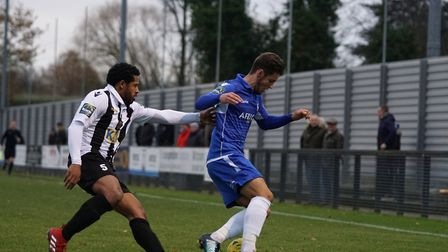 Lowestoft Town want to extend Matthew Foy's loan spell at Crown Meadow. Picture: Shirley D Whitlow