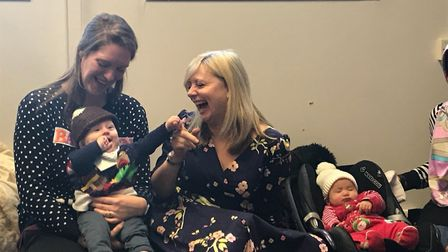 Shadow minister for early years Tracy Brabin with a parent at Earlham Early Years Centre. Picture: B
