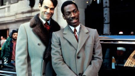 Not having a merry Christmas - Dan Ackroyd and Eddie Murphy in Trading Places. Photo: Paramount Pict