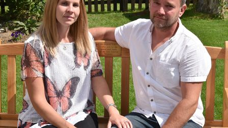 Parents, Susie Ash and Justin Thorndyke have been campaigning for the heel prick test to include scr