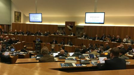 The issue of allowances went to a county council vote. Pic: Dan Grimmer.