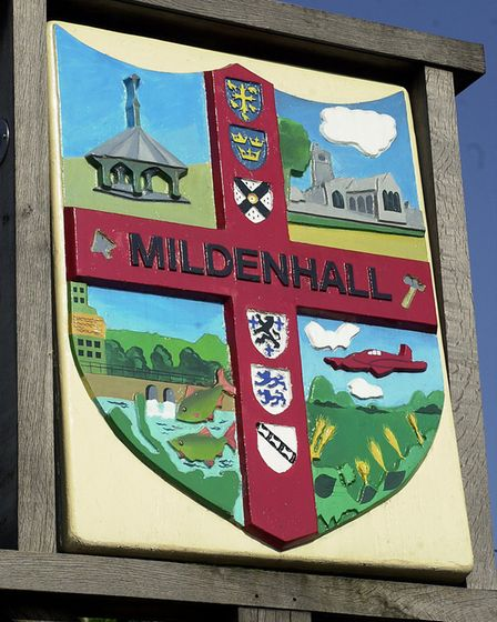 Mildenhall town sign. Picture: DENISE BRADLEY