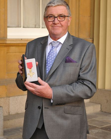 Norfolk Wildlife Trust chief executive Brendan Joyce, upon receiving an OBE for services to nature c