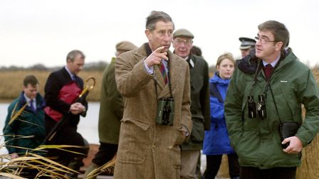Brendan Joyce with Prince Charles on a visit to Hickling Broad in 2001. Picture: Nick Butcher