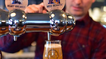 Launch of two new beers from Station 119 at the Arcade Tavern in Ipswich.