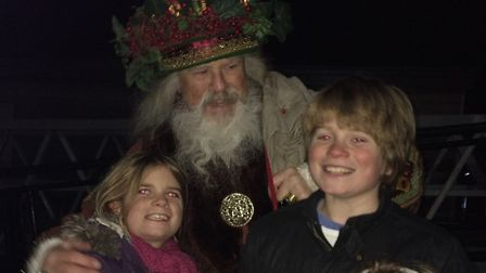 Big smiles in Wells at the Christmas light switch on event. Picture: Jenny Martin.