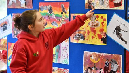Pupils from Hempnall Promary School have spent a week studying different artists and come up with th