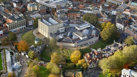 Aerial view Norwich by Mike Page. Pictured: Norwich Castle Museum. Picture: Mike Page