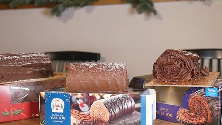 We tried six of the leading supermarkets' chocolate yule logs for 2017 and these three from Asda, Sa