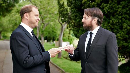 David Mitchell and Robert Webb are brothers - kind of (c) Channel 4