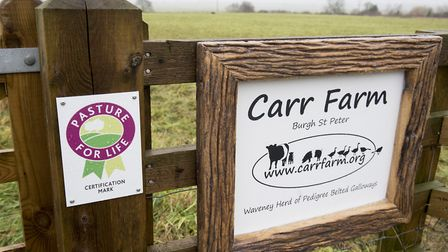 """Carr Farm in Burgh St Peter has become the first """"Pasture For Life"""" certified venture in Norfolk. Pi"""