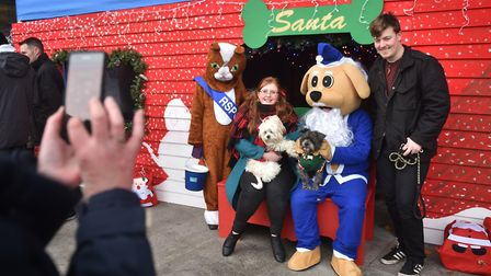 RSPCA Santa's dog grotto at The Forum in Norwich.Picture: ANTONY KELLY