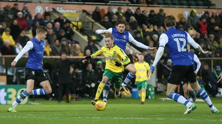 James Maddison scored and created the second Norwich City goal in a 3-1 Championship win over Sheffi