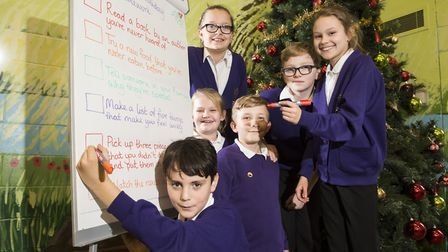 Youngsters from Moorland primary school, Belton have been set some 'alternative' homework for the Ch