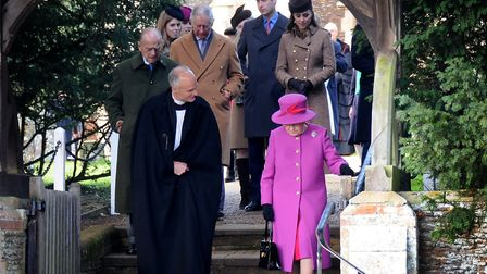 Royals at Sandringham church service on Christmas Day. Picture: Antony Kelly