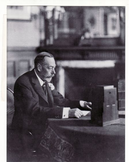 King George V delivers his first Christmas speech from Sandringham. Picture: EDP library