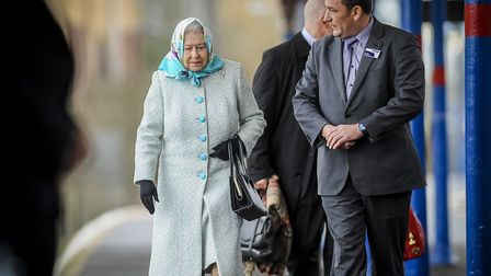 The Queen often travels by train to King's Lynn, when on her way to Sandringham for Christmas. Pictu