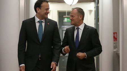 File photo dated 01/12/17 of President of the European Council Donald Tusk (right) meeting with Taoi